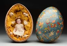 I just discovered this All-Bisque Doll in Easter Egg. on LiveAuctioneers and wanted to share it with you: www.liveauctioneers.com/item/48836806