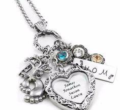 Filigree Heart Locket - Mothers Locket - Children's Photo Locket - Kids Names Locket - Personalized Picture Locket - Charm Locket - Blackberry Designs Jewelry