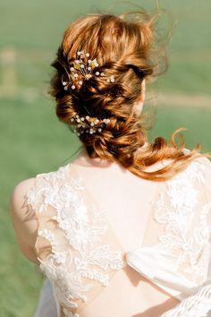Shades of Wuthering Heights: Boho Bridal Editorial at the Chesterton Windmill Hair And Makeup Artist, Hair Makeup, Natural Auburn Hair, Creative Wedding Inspiration, Bridal Shoot, Industrial Wedding, Brides And Bridesmaids, Bride Hairstyles, Bridal Portraits