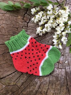 Wool socks children's knitted baby alpaca socks winter toddler knit Warm boys girls kids Leg warmer newborn babies gift Red watermelon sock