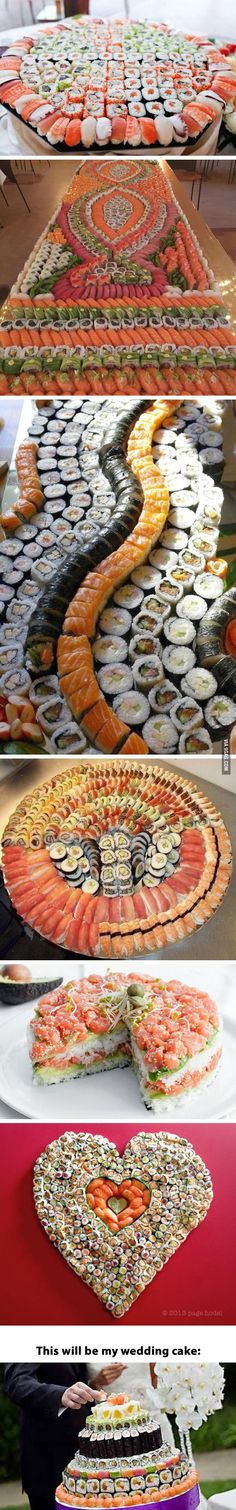 Ive never had sushi but it looks good so I'm pinning it! Sushi porn, for the crazy sushi lovers (like me) Sushi Love, My Sushi, Sushi Recipes, Asian Recipes, Sushi Comida, Sushi Platter, Sushi Buffet, Sushi Party, Sushi Rolls