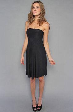 #karmloop.  Rep code:  48302.  Venni Caprice swing strapless dress.  $55