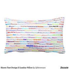 Shawn Text Design II Lumbar Pillow