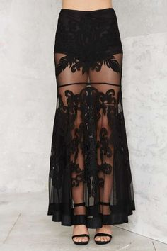Nasty Gal Baroque 'n' Bad Embroidered Skirt - Clothes   Party Shop   Skirts