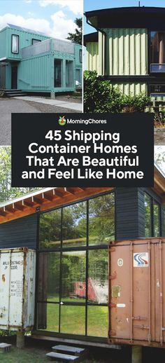 45 Shipping Container Homes That Are Beautiful and Feel Like Home Looking for an alternative housing option? Why not consider container homes? Upcycle old shipping containers for a stunning new home sure to catch the eye. Container Home Designs, Cargo Container Homes, Building A Container Home, Container Buildings, Container House Plans, Container Houses, Container Store, Container Gardening, Shipping Container Design