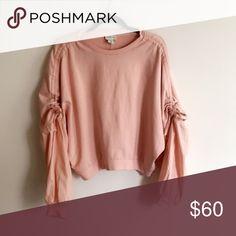 19676fc00fb •Boutique• Balloon Sleeve Pink Sweatshirt Adorable high fashion baby pink  sweatshirt with balloon sleeves