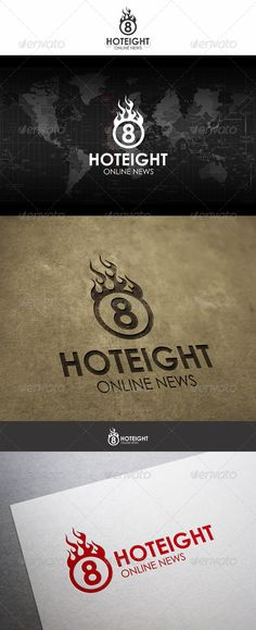 Hot Eight Fireball Logo — Vector EPS #web tv #fire logo • Available here → https://graphicriver.net/item/hot-eight-fireball-logo/6208378?ref=pxcr