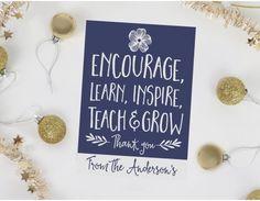 Learn Teach Grow Personalised Teacher Card