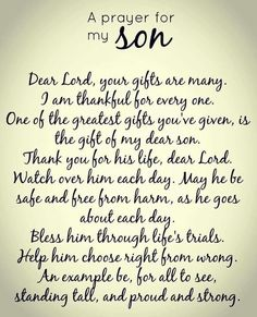 Prayer for my sons.