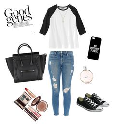 """Untitled #8"" by suvisfi on Polyvore featuring Frame Denim, Converse, Favero, Casetify, Chanel and Charlotte Tilbury"