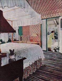 """1951 Early American Bedroom.""  American Home magazine. via American Vintage Home on Flickr."