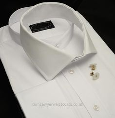 Shirts : Detachable Collars and Collarless Legal Shirts : Soft Detachable Standard Collar in White