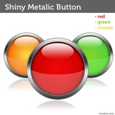 Shiny Metalic Button Templates