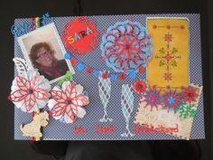 kado enveloppe voor een goede vriendin die 50 jaar werd. Met behulp van de verschillende stanzen, hobbydots.