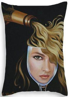 """""""Chardonnae"""" Throw Pillow ©Sandi Whetzel, $30, http://sandi-whetzel.artistwebsites.com/products/chardonnae-sandi-whetzel-throw-pillow-20-14.html"""