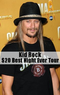 Kid Rock set all ticket prices to $20 for his $20 Best Night Ever Tour.