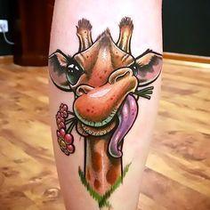 New School Giraffe Tattoo Idea Source by findinkdesign Giraffe Tattoos, Baby Tattoos, Line Tattoos, Body Art Tattoos, Cool Tattoos, Portrait Tattoos, Tattoo Ink, Buddha Tattoos, Neck Tattoos