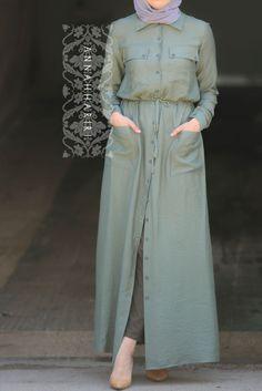 Khaki Front Buttoned Dress