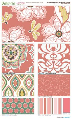 "Riley Blake Designs..New fabric line ""Valencia"" .. LUV!"