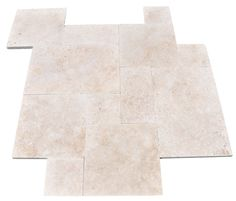 Pattern Tumbled Ivory #Travertine Pavers are the lightest color we offer.  #tile. Get a tile sample !