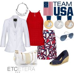 """""""TEAM USA! Etcetera Spring Collection"""" by etcetera-nyc on Polyvore"""
