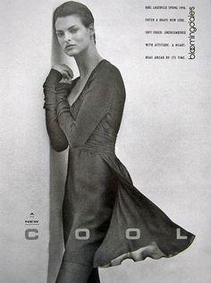 Linda Evangelista for Bloomingdale's (1990) Ph Peter Lindbergh