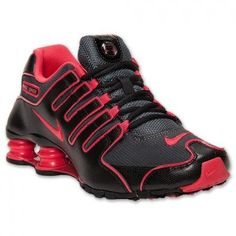 Tênis Nike Shox Women's NZ EU Running Shoes Anthracite/Fusion Red-Black #Tenis #Nike