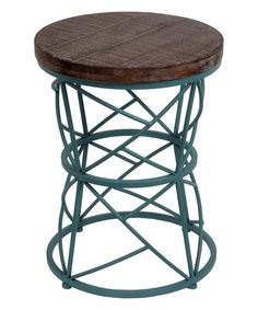 Look what I found on #zulily! Round Cage Accent Stand - Set of Two #zulilyfinds