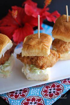 Crispy Fish Sliders on Kings Hawaiian Rolls by The Culinary Chronicles @Nancy Murphy   The Culinary Chronicles