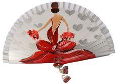 Mexican Paintings, Painted Fan, Antique Fans, Small Fan, Paper Fans, Diy Painting, Decoupage, Antiques, Canvas