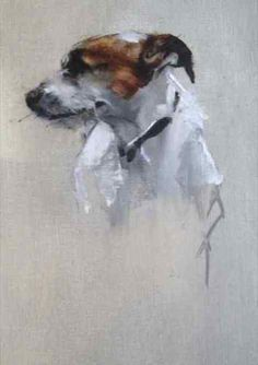 Portraits of Dogs Oil on Canvas by Dede Gold More