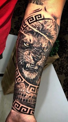 Tattoos Discover 70 female and male lion tattoos - diy tattoo images - Best Tattoo Share Female Lion Tattoo Lion Forearm Tattoos Lion Head Tattoos Forarm Tattoos Lions Tattoo Top Tattoos Tiger Tattoo Hand Tattoos Tattoos For Guys Hand Tattoos, Lion Forearm Tattoos, Lion Head Tattoos, Forarm Tattoos, Best Sleeve Tattoos, Tiger Tattoo, Tattoo Sleeve Designs, Tattoo Designs Men, Horse Tattoos