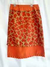 Petroleum Brand Skirt Layered Ruffles Animal Print Chic Portugal Europe S