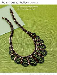 Rypan Designs: Rising Curtains Necklace as seen in Beadwork magazine Jun/July 2014