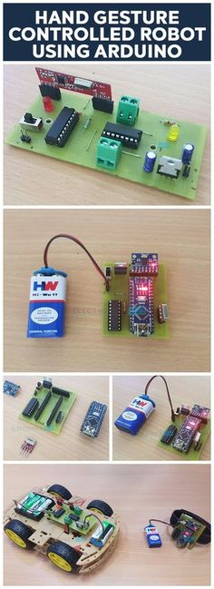 In this project, we have designed a simple Hand Gesture Controlled Robot using Arduino. This Hand Gesture Controlled Robot is based on Arduino Nano, MPU6050, RF Transmitter-Receiver Pair and L293D Motor Driver.