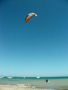 Kite Surfing on The Mar Menor near los Alcazares
