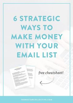 Soo you have an email list, but you have no idea how to use it to make money online. Sound about right? This in-depth post describes 6 killer ways to use your email list as a way to increase your income. It's perfect for business owners, entrepreneurs, and bloggers who are ready to take things seriously. Click through to read the full post!