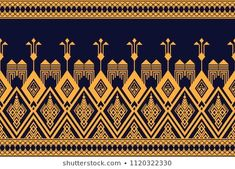 Embroidery patterns design ethnic 61 ideas for 2019 Textile Pattern Design, Motif Design, Border Design, Textile Patterns, Print Patterns, Design Art, Embroidery Patterns, Knitting Patterns, Textile Prints