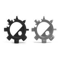 EDC Acero Inoxidable Multifunción Destornillador Reparación de bicicletas de apertura Octopus herramientas #bicyclerepairtools