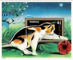 Cats on stamps: Mongolia