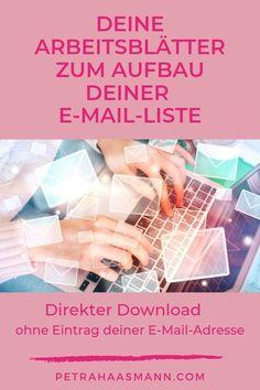 Build your email list in 7 easy steps – Petra Haasmann – frisuren locken Marketing Trends, Online Marketing Tools, E-mail Marketing, Content Marketing, Internet Marketing, Social Media Trends, Gratis Download, Seo Online, Video Advertising