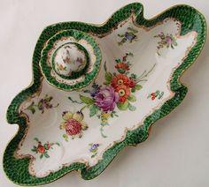 Antique Hand Painted Dresden Porcelain
