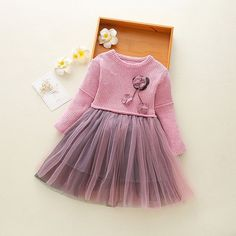 Wholesale Autumn Children's Dress Girl's Wool Dress Princess Skirt Children's Dress Baby Skirt from Our website with high quality and fast shipping worldwide. Winter Outfits For Girls, Kids Outfits, Fashion Kids, Frocks And Gowns, Smocked Baby Dresses, Baby Dress Design, Baby Skirt, Baby Gown, Dresses Kids Girl