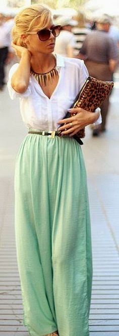 Palazzo Pants With Long Shirts - http://fashionable.allgoodies.net/2014/03/palazzo-pants-with-long-shirts/