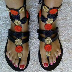 African maasai sandals!