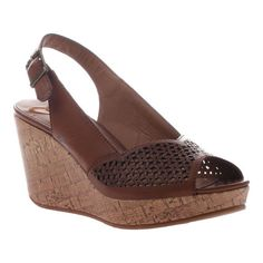 b50b6d691840d Women's Madeline Doting Wedge Slingback Sandal - Brown Sugar Synthetic  Sandals Sophie Shoes, Brown Sandals