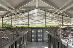 Foster + Partners, Château Margaux winery, winery, France, green renovation, natural light, pitched roof, vernacular architecture, green architecture, wine cellar