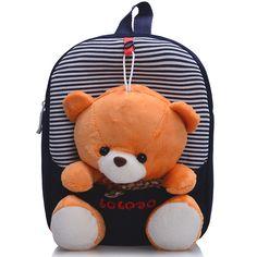 7a26a40cce87 Children backpack kindergarten girls boys kid backpack school bags cute  cartoon toys bear ribbons bow hot