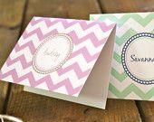 chevron note cards