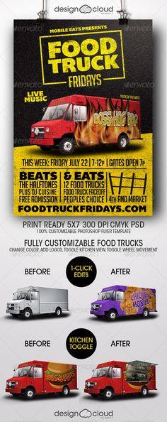 Food Truck Fridays Flyer Template